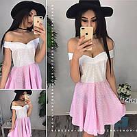 Женское легкое летнее платье из прошвы (2 цвета)
