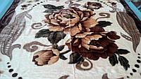 Плед акриловый двойной TRUE LOVE цветок пион горошина