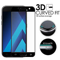 Защитное стекло Full Screen Premium Tempered Glass для Samsung Galaxy A5 2017 A520 Black, фото 1