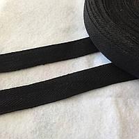Лента киперная черная, ширина 2 см, фото 1