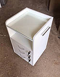 Тумба косметологічна зі склом на стільниці V151, фото 2