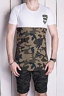 Мужские летние  комплекты фирменные :шорты: 98% коттон, 2% лайкра ,футболка:100 % cotton   Размеры: S,M,L,XL