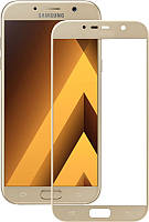 Защитное стекло Full Screen Premium Tempered Glass для Samsung Galaxy A5 2017 A520 Gold, фото 1