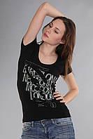 Черная оригинальная женская футболка (реплика) Kenzo