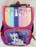 Рюкзак ортопедический каркасный для девочки 1-4 классов, фиолетовый