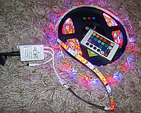 Светодиодная лента 3528 5M 300 LED RGB Waterproof + Free IR Remote System, фото 1