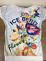 "Женская футболка ""айсберг"""