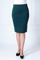 Молодежная женская юбка карандаш зеленого цвета