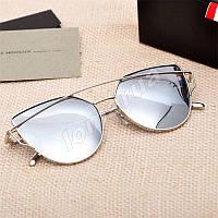 Женские солнцезащитные очки зеркальные (Уценка)