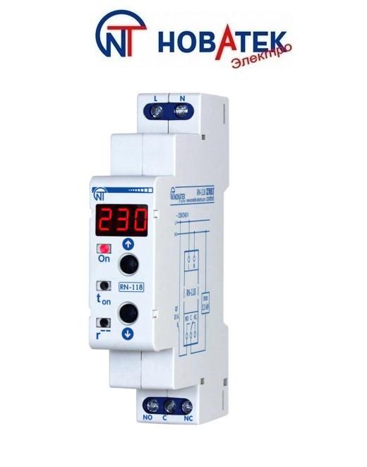 """Реле контроля напряжения RN - 118 (10 А, 2.3 кВт) """"Новатек-Электро"""" (Украина)"""