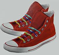 Силиконовые цветные шнурки (не надо завязывать)
