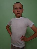 Мальчиковая футболка белая, фото 1