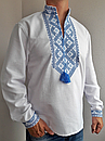 Мужская вышиванка из льна Матвей, фото 5
