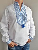 Мужская вышиванка из льна Матвей, фото 1