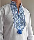 Мужская вышиванка из льна Матвей, фото 6