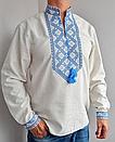 Мужская вышиванка из льна Матвей, фото 7