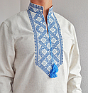 Мужская вышиванка из льна Матвей, фото 8