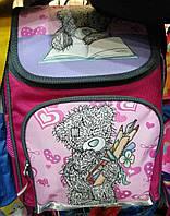Каркасный рюкзак для первоклассников с ортопедической спинкой, Мишка Тедди