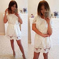Нежное хлопковое женское платье P6703