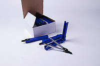 Циркуль металлический в футляре с запасным грифелем, инструмент для черчения №7005