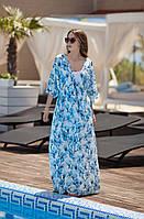 Комплект 1110  42-44 , 44-46 размер  Основа:софт принт, микро дайвинг  длина: верхнее платье - 143 см,  ни