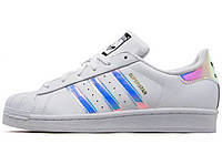 Женские кроссовки Adidas Superstar Iridescent GS White
