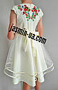 Нарядное вышитое платье для девочки с фатином, фото 5