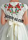 Нарядное вышитое платье для девочки с фатином, фото 6