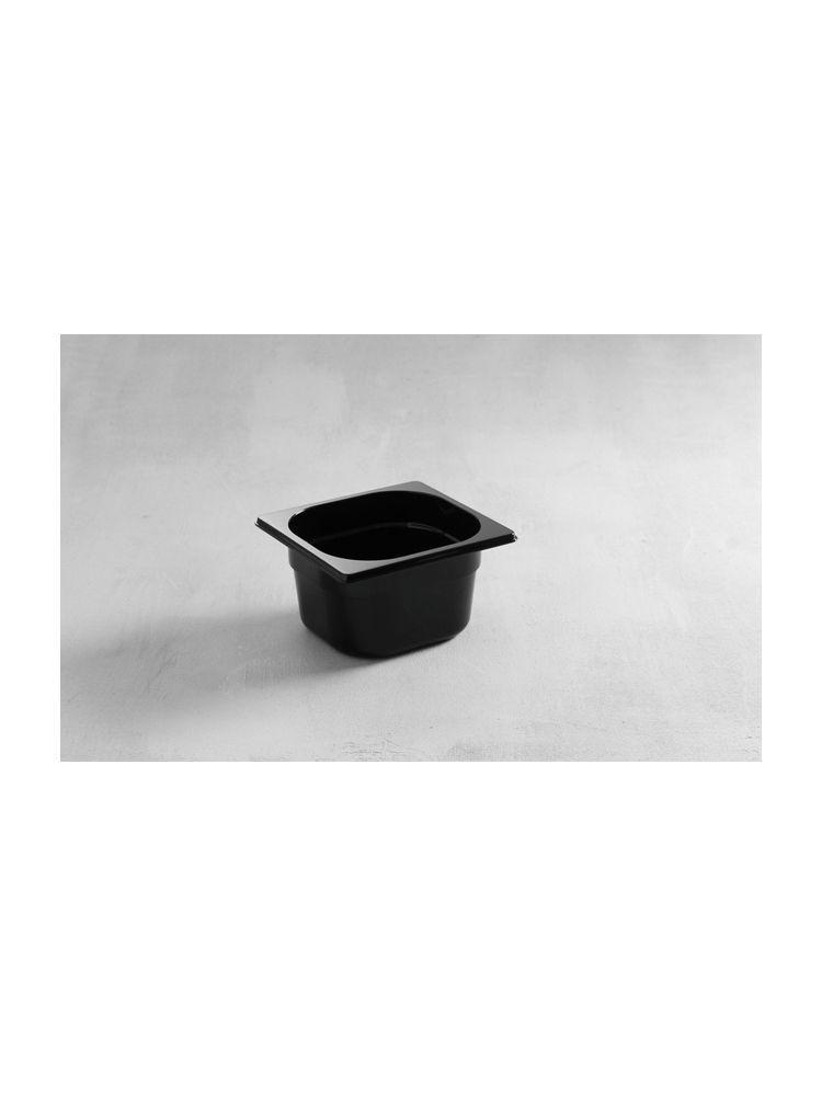 Гастроемкость GN 1/6-65 мм. поликарбонатная черная Hendi