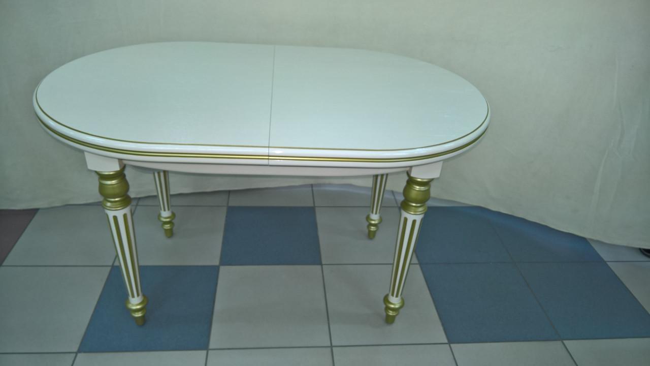 Стол МАРЦИПАН (слоновая кость+золотая патина)