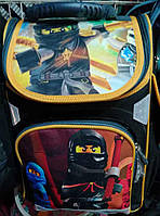 Каркасный ортопедический рюкзак для первоклассников Ninjago