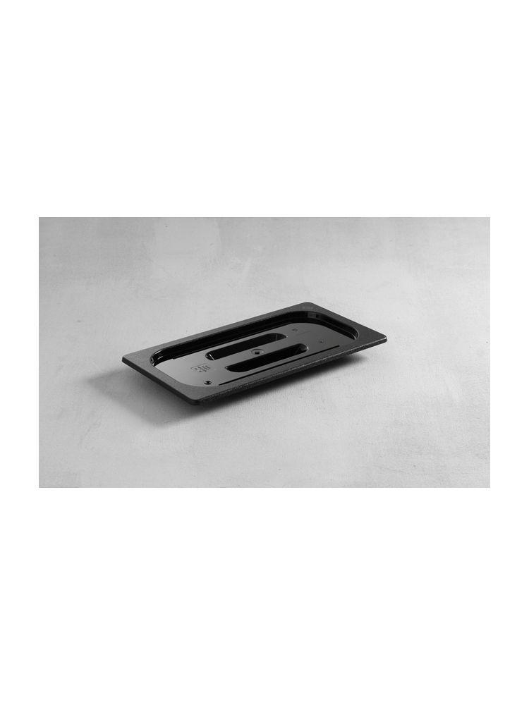 Крышка для гастроемкости GN 1/4 поликарбонатная черная Hendi