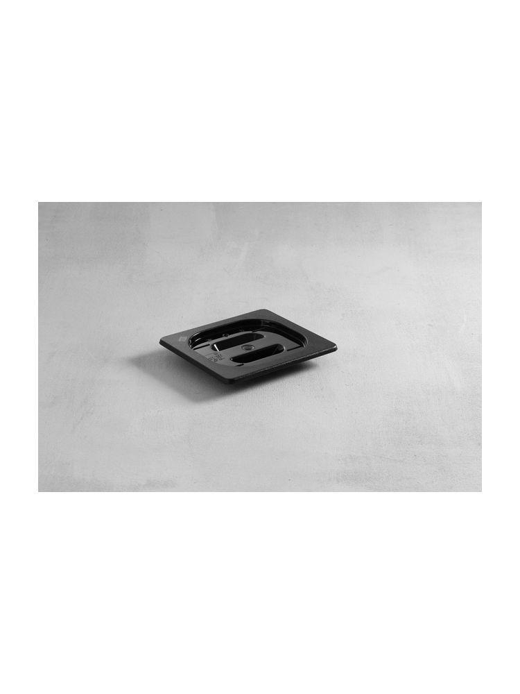 Крышка для гастроемкости GN 1/6 поликарбонатная черная Hendi
