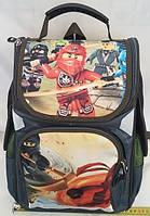 Рюкзак ортопедический для мальчиков первоклассников, Ninjago