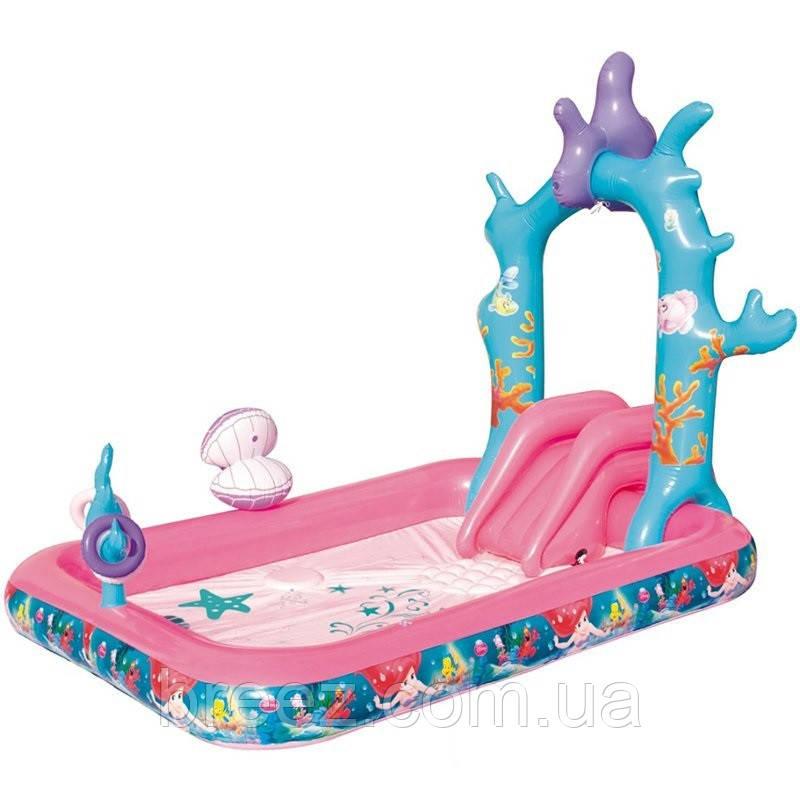 Детский надувной центр BestWay 91051 Русалочка 264 х 168 х 180 см
