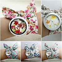 Женские часы с тканевой лентой Flower Temptation