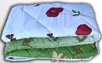 """Одеяло ТЕП стеганое холофайбер Зима 150*210 """"Маки зеленые с бабочкой"""""""