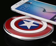 Беспроводное зарядное устройство Qi S2, в виде щита капитана Америка, железного человека!Акция