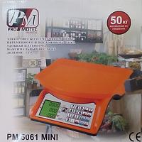 Электровесы со счетчиком цены PRO MOTEC PM 5061 mini 50kg (2 gm)!Акция