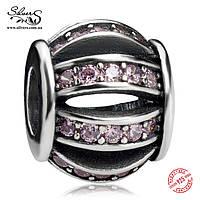 """Серебряная подвеска-шарм Пандора (Pandora) """"Розовый бочонок"""" для браслета"""