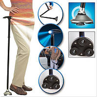 Телескопическая трость с led фонариком Trusty Cane, трость для ходьбы пожилым людям