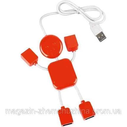 USB хаб на 4 порта Человечек!Акция, фото 2