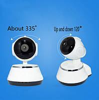 WI-FI IP-камера DL- V3 new (1.0MP - 1280*720P, инфракрасное ночное видение, с вращением, поддержка TF карты!Акция