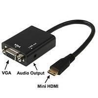 Конвертер с mini HDMI на VGA+AUDIO
