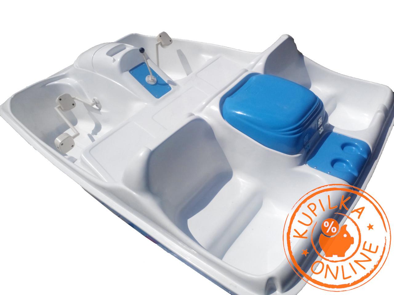 Новые катамараны OPTIMA стеклопластик 5мест водный велосипед