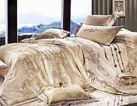 Комплект постельного белья La Scala шелковый жаккард c вышивкой 3D-035 (Полуторный)