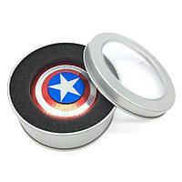 Непоседа Стороны СПИННЕР  Металлический Палец Стресс Spinner Капитан Америка Щит