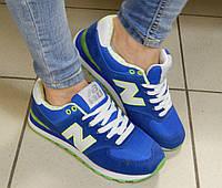 Женские Кроссовки New Balance, цвет: синий