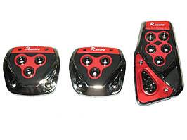Накладки на педали 375 Red/chrome   (компл.)