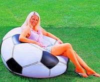 """Надувное кресло-мешок """"Футбольный мяч"""" Intex 68557 108*111*66 см"""